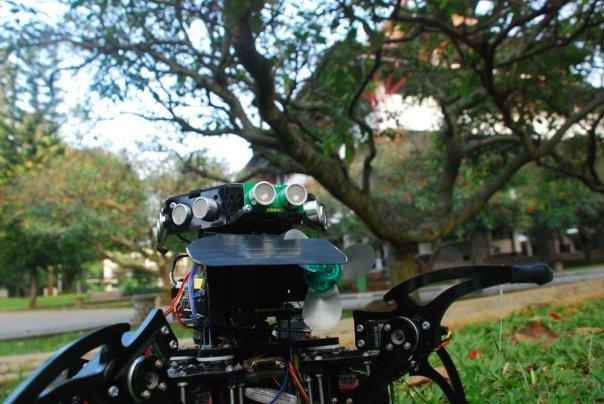 Fire Fighting Hexapod Robot