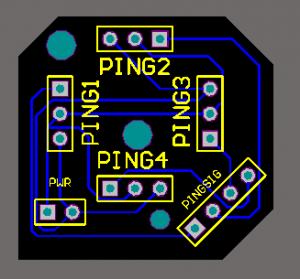 PCB for the PING Sonar sensor using Altium Design / Protel DXP