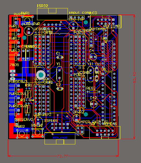 ATMega Minimum System Circuit, Built using Altium Designer