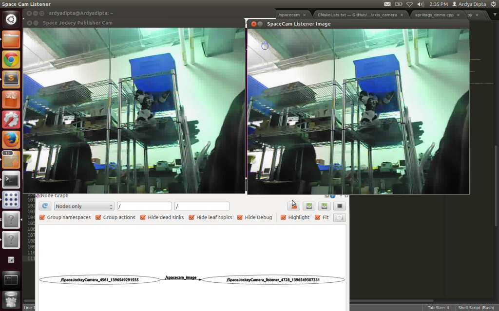 IP Camera connected and published in ROS Image Message