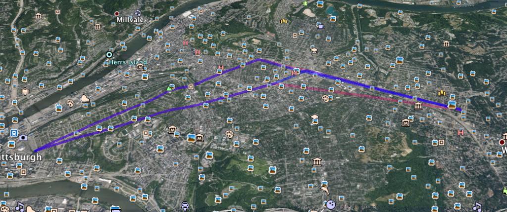 Crime scenes locator on Google Earth